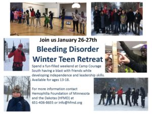 Bleeding Disorder Winter Teen Retreat @ Camp Courage | Annandale | Minnesota | United States