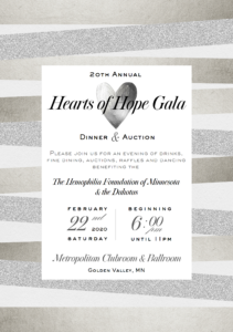 20th Annual Hearts of Hope Gala @ Metropolitan Ballroom & Clubroom